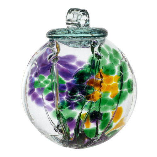 """6"""" Spirit Ball - Multi Green - Kitras Art Glass"""