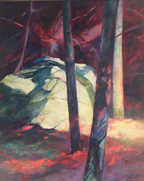 'Bright Rock II' by Artist Peggy Richard, Acrylic on Canvas