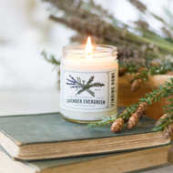 Finding Home Farm Lavender Evergreen Soy Candle – 7.5 oz.