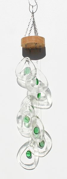 Spiral Glass Chime 'Cool Springs'-Bottle Benders