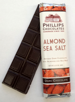 Phillips Chocolates Almond Sea Salt Dark Chocolate Bar