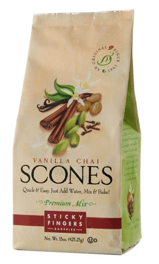 Sticky Fingers bakeries Vanilla Chai Scone Mix
