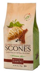 Sticky Fingers Bakeries Cinnamon Raisin Scone Mix with Vanilla Glaze
