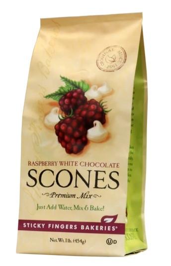 Sticky Fingers Bakeries Raspberry White Chocolate Scone Mix