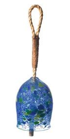 "Kitras Art Glass 4"" Garden Bell - Indigo"