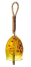 "Kitras Art Glass 4"" Garden Bell - Lemon"