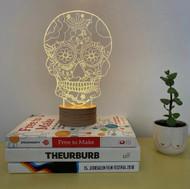 Studio Cheha BULBING® lamp - #Floral Skull