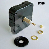 "Quiet Sweep MS26 High Torque Long Shaft Clock Motor - for dial up to 1/2"" thick"