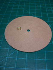 "6-1/8"" MDF   Round Board Use for covering center hole in wire spool"