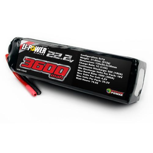 Venom 3600Mah 50C 6S 22 2V Li-Po Battery No Plug