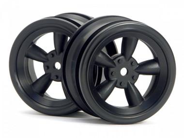 HPI 3815 - Vintage 5 Spoke Wheel 26mm Black 0mm Offset