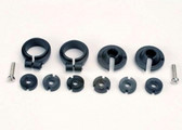 Traxxas 1965 Piston head set, (2 sets of 3 types) / shock collars (2) / spring retainers (2)
