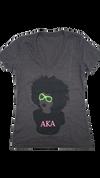 AKA Afro V-Neck  (Dark Gray)