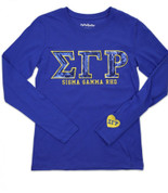 SGRho Sequin LS Tee- Royal