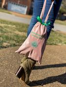 Pink Velvet Shoe/Intimates Bag