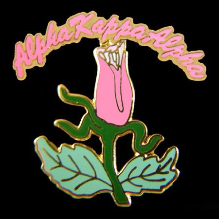 AKA Pink Tea Rose Lapel Pin