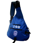 Stylish, one-shoulder bag. Sling bag has three pockets and a cellphone holder on the strap.