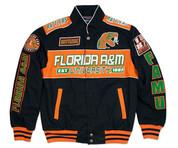 FAMU Black Nascar Style Twill Jacket