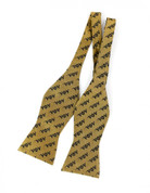 APA Silk Bow Tie (Self Tie)- Gold