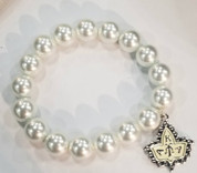 Pearls & Ivy Bracelet - White