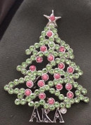 AKA Christmas Tree Lapel Pin