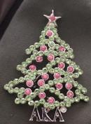 AKA Christmas Tree Lapel Pin