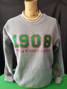 Glitter Crew Neck Sweatshirt - Gray