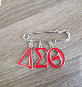 DST Safety Pin- Greek Letters