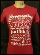 Crimson Collage Tee