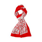 DST Silk Scarf - Red/Wht