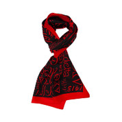 DST Silk Scarf - Red/Blk