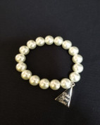 Pearls and Pyramid Braclet