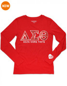 DST Sequin Long Sleeved Tee-Red
