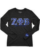 ZPB Sequin Long Sleeved Tee - Blk