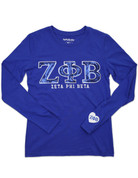 ZPB Sequin Long Sleeved Tee - Royal