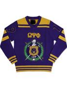 Omega V-Neck Chenille Sweater