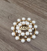 DST Pearl Brooch - Gold