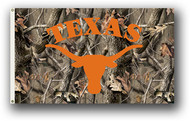 Texas Longhorn Real Tree Camo Logo Flag (3 X 5) 95434