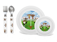 Texas Longhorn Toddler Plate & Bowl Set (UTX20002)