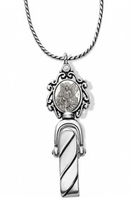 Brighton Guardian Angel Badge Clip Necklace (JL1610)