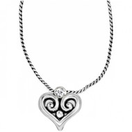 Brighton Alcazar Heart Badge Clip Necklace (JN9732)