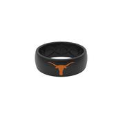 Texas Longhorn Groove Life Mens' Black Original Silicone Ring (2 Logo Colors) (R3-0122 & 3)