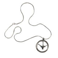Texas Longhorn Circle Necklace (3362220)