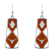 Texas Longhorn Aztec Earrings (3347530)