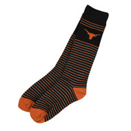 Texas Longhorn Dress Stripe Socks (XODS1-IND)