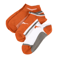Texas Longhorn Low Cut 3 Pack Socks (XR6603)