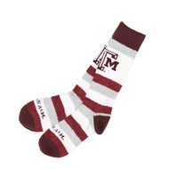 Texas A&M Ladies Pro Stripe Crew Socks (505-7DST)
