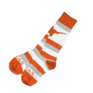 Texas Longhorn Ladies Pro Stripe Crew Socks (505-7DST)
