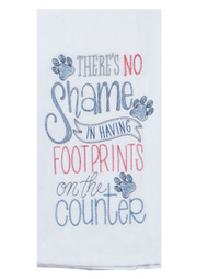 Purr Footprints Embroidered Flour Sack Towel (A8631)