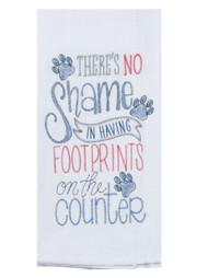 Purr Footprints Embroidered Flour Sack Towel (A8631)